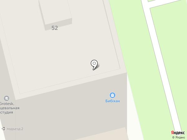 Бибихан на карте Алматы