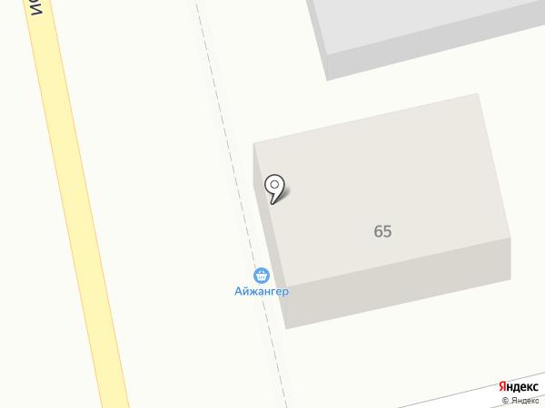 Айжангер на карте Алматы