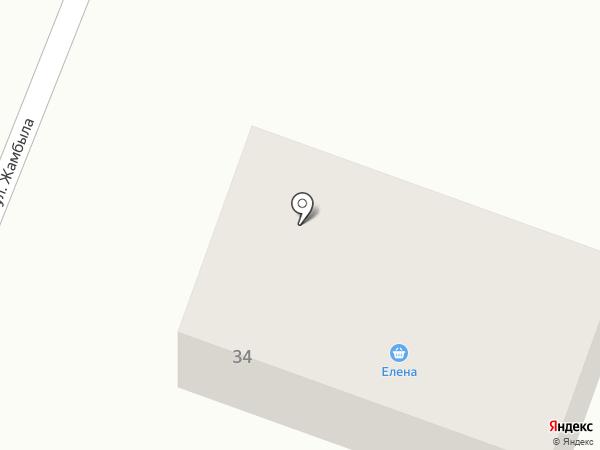 Елена на карте Жапека Батыра