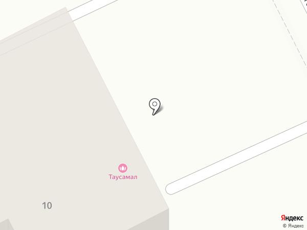 Таусамал на карте Алматы