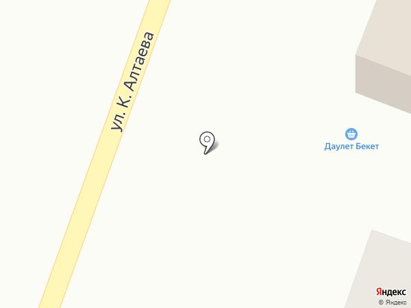 Акниет на карте Жапека Батыра