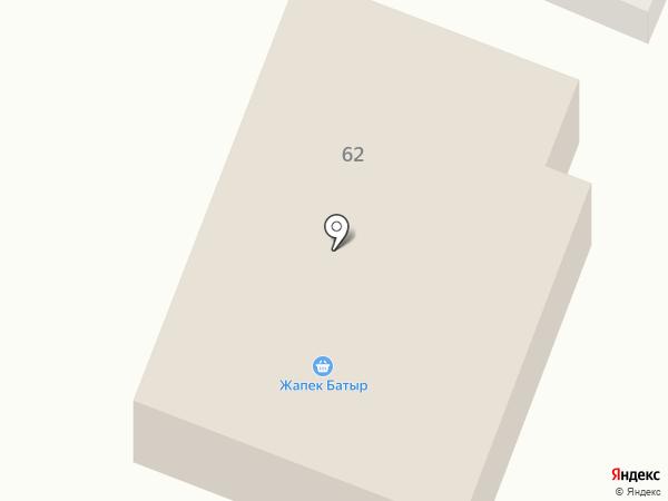 Жаксылык на карте Жапека Батыра
