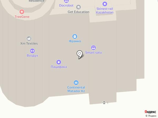 Воздух на карте Алматы