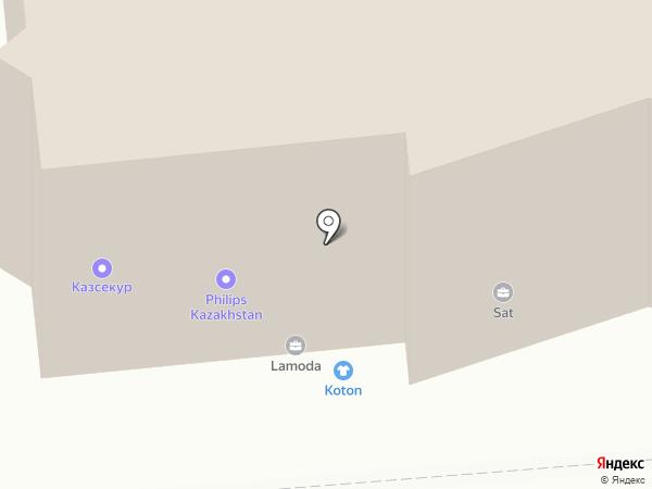 ТЕСЕ на карте Алматы