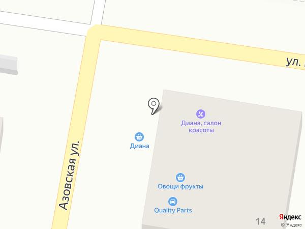 Диана на карте Алматы