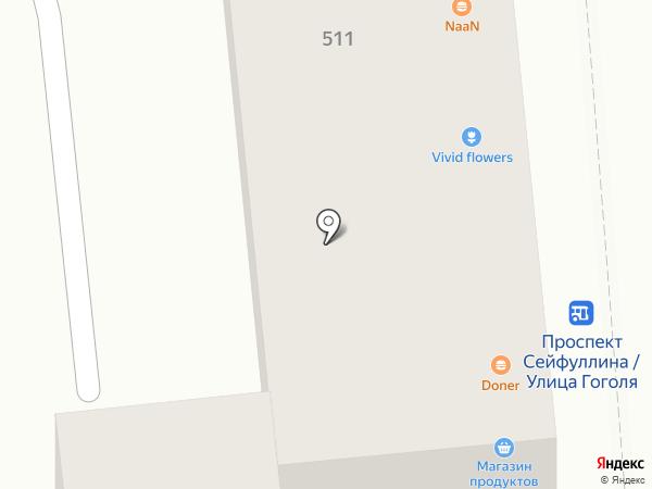 Массажный кабинет Игоря Боревича на карте Алматы