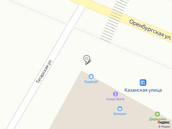 Янтарная капля на карте Алматы