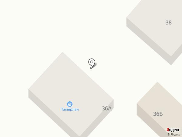 Тамерлан на карте Алматы