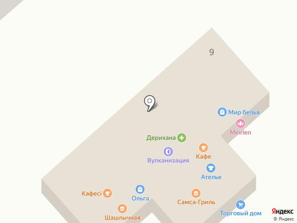 АБД на карте Отегена Батыра