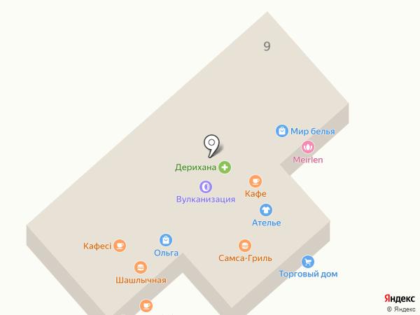 Банкомат, Банк ЦентрКредит на карте Отегена Батыра