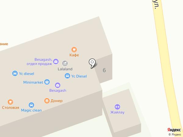 Жайлау на карте Бесагаш