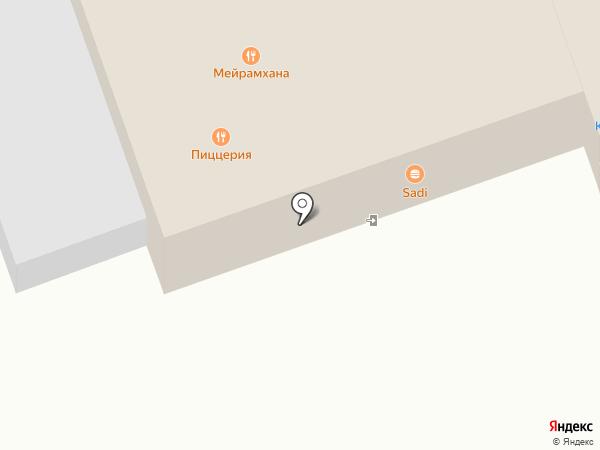 Сандал на карте Бесагаш