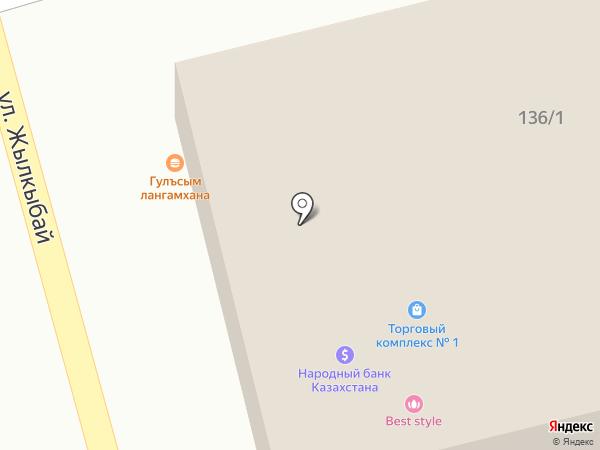 Хан на карте Туздыбастау