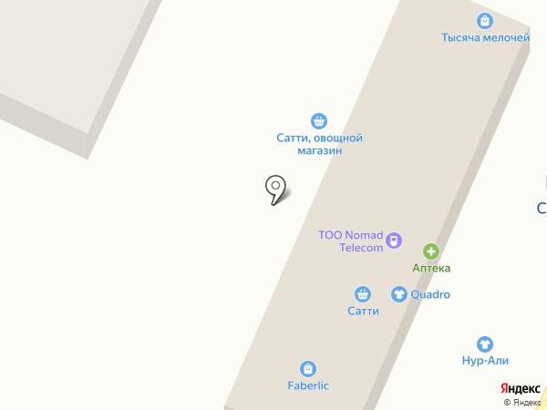 Сатты на карте Туздыбастау