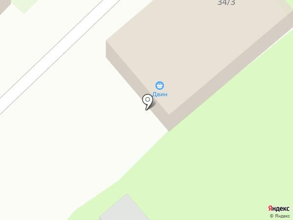 Двин на карте Красного Яра