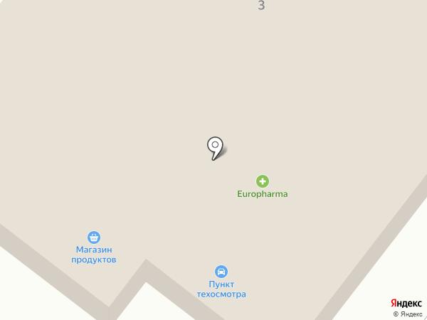 Станция технического осмотра транспорта на карте Касымы Кайсеновой
