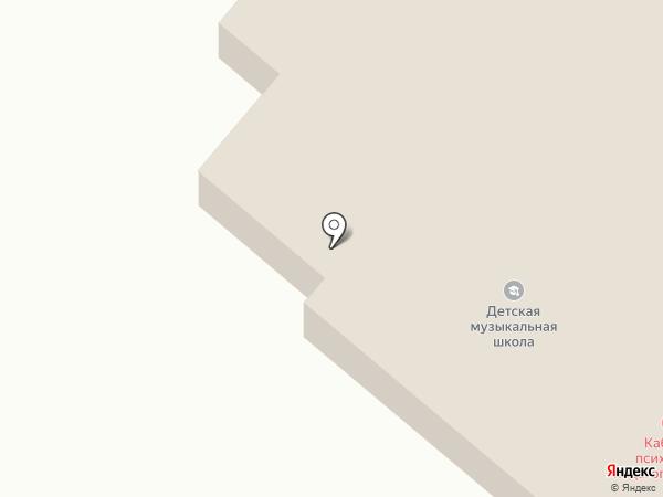 Кабинет психолого-педагогической коррекции Уланского района для детей с ограниченными возможностями, КГУ на карте Касымы Кайсеновой