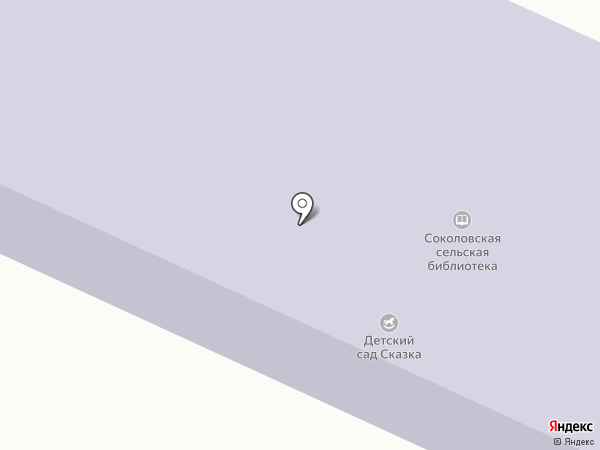 Соколовская сельская библиотека на карте Соколово