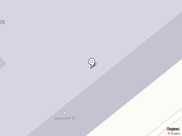 Средняя школа №8 на карте Усть-Каменогорска