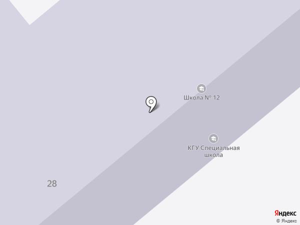 Вспомогательная школа №21 на карте Усть-Каменогорска