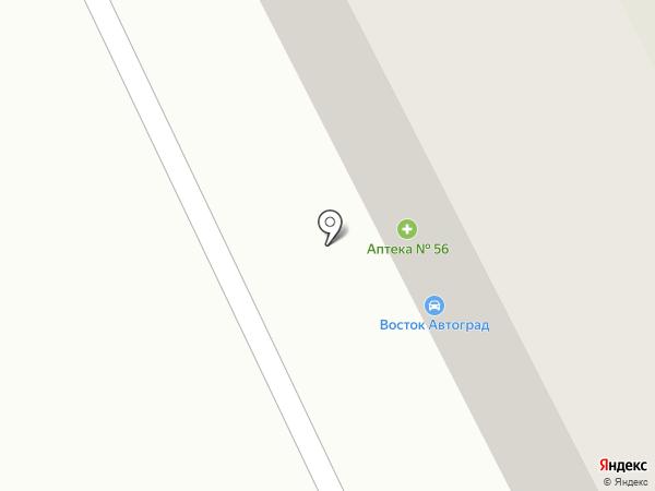 Аптека №56 на карте Усть-Каменогорска