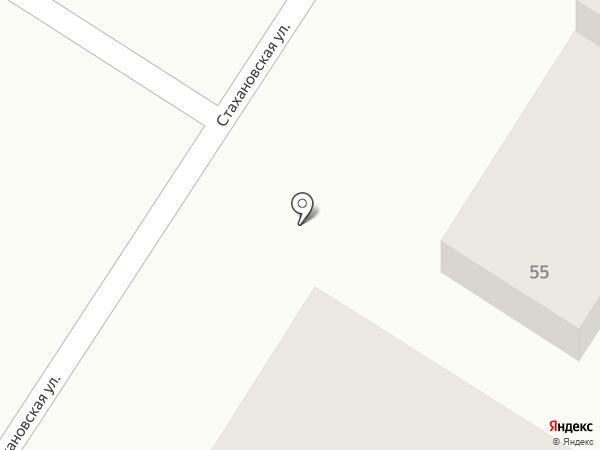 Стаханофф на карте Усть-Каменогорска