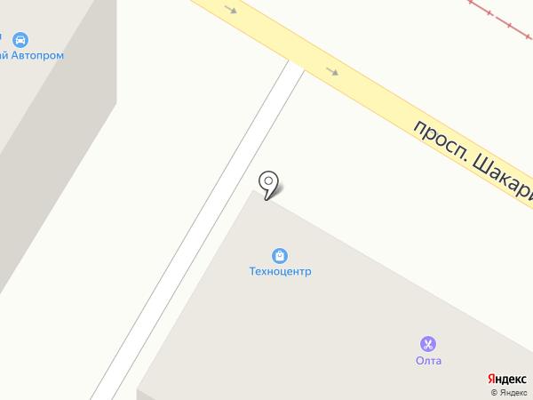 Техноцентр на карте Усть-Каменогорска
