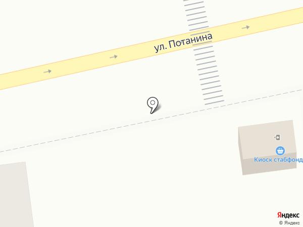 Киоск по продаже фруктов и овощей на карте Усть-Каменогорска