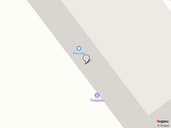 Тиадора на карте Усть-Каменогорска