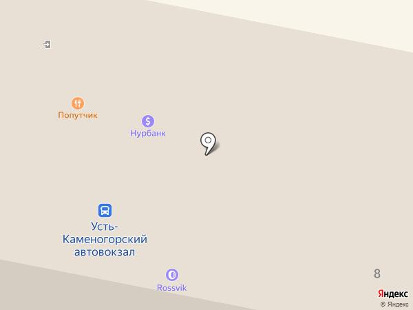 Детрин на карте Усть-Каменогорска