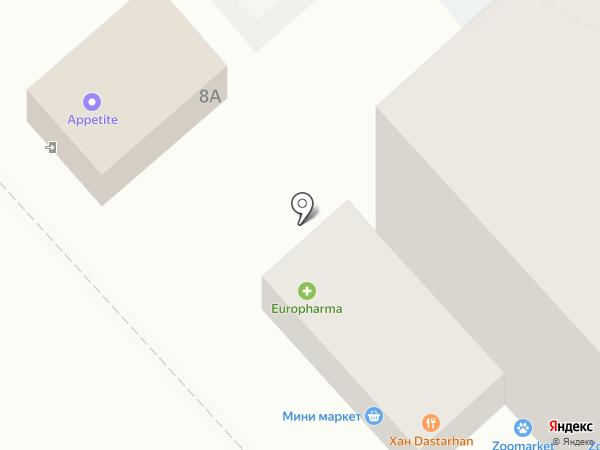 Europharma на карте Усть-Каменогорска