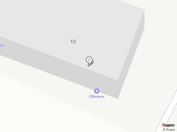 Обелиск на карте Усть-Каменогорска