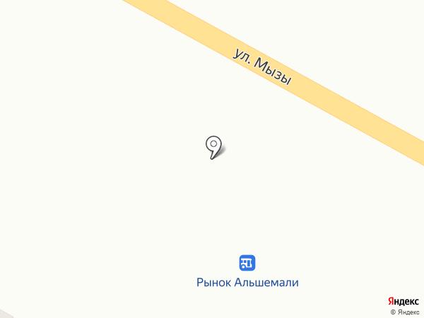 Карлыгаш на карте Усть-Каменогорска