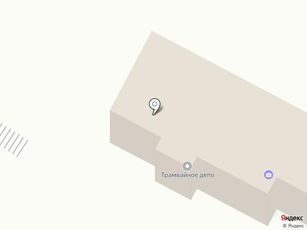 Усть-Каменогорский городской трамвайный парк на карте Усть-Каменогорска