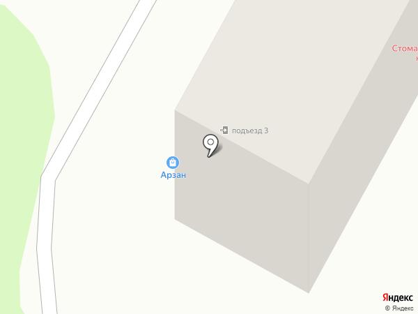 Арзан на Бурова на карте Усть-Каменогорска