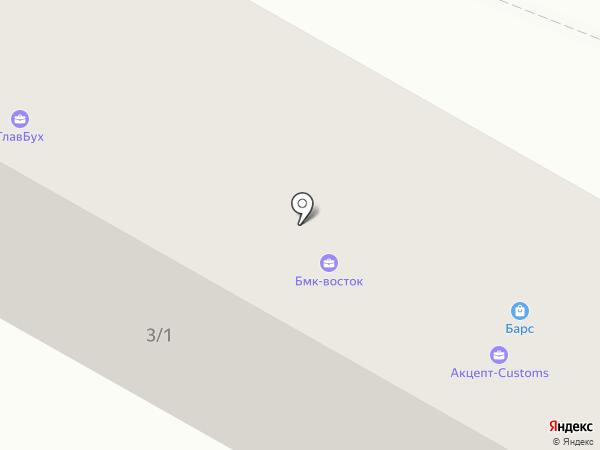 Барс на карте Усть-Каменогорска
