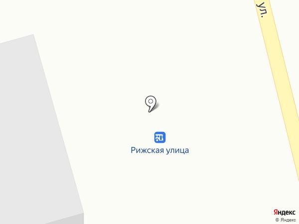 Рижская на карте Усть-Каменогорска