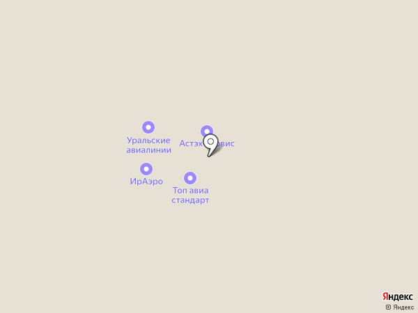 ЮВТ АЭРО на карте Оби