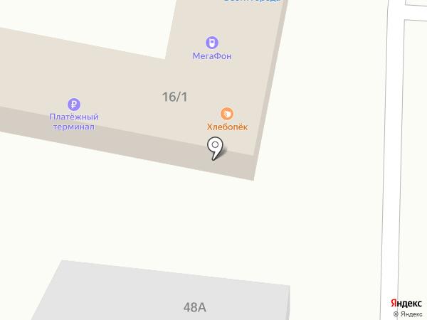 Городок на карте Оби