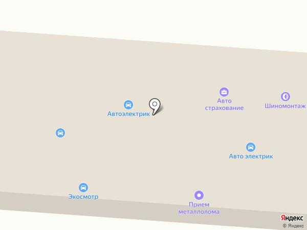 Шиномонтажная мастерская на карте Оби
