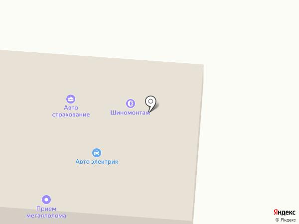 Автосервис на Линейной на карте Оби