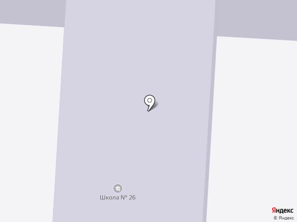 Средняя общеобразовательная школа №26 на карте Оби