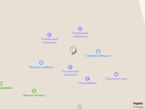 Магнит на карте Оби