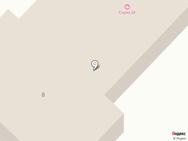 Обская городская баня на карте Оби