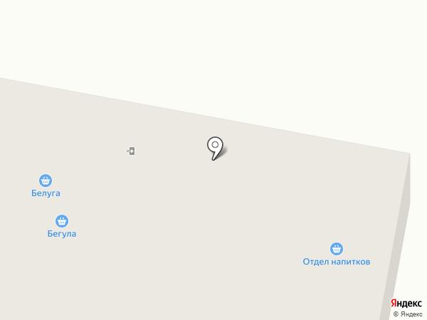Белуга на карте Оби