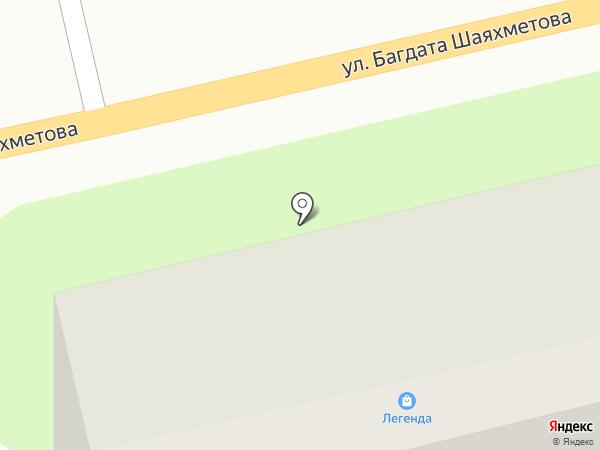 Людмила на карте Усть-Каменогорска