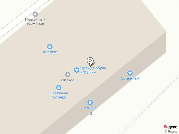 Обское, ЗАО на карте Марусино