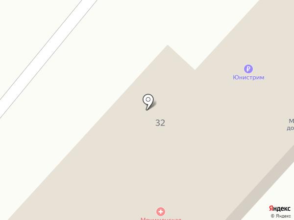 Мочищенская врачебная амбулатория на карте Мочища