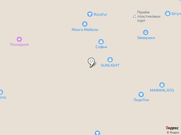 Магазин бижутерии из Южной Кореи на карте Новосибирска