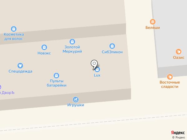 Камея на карте Новосибирска